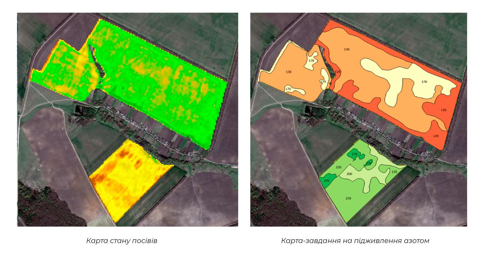 Карта-завдання на підживлення азотом