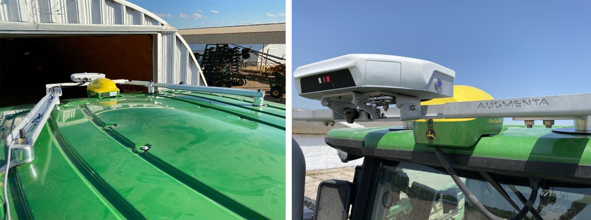 Установка Augmenta на даху John Deere зі штатною антеною
